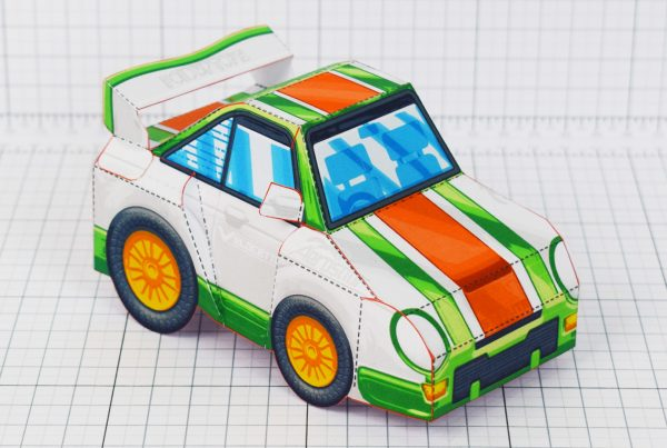PTI - VHR Cilantro Paper Toy Car Racer Game - Front Low