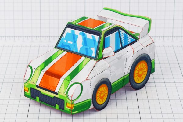 PTI - VHR Cilantro Paper Toy Car Racer Game - Front Turn