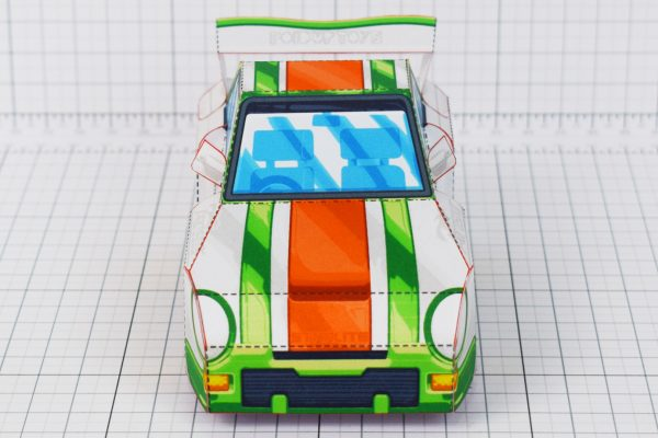 PTI - VHR Cilantro Paper Toy Car Racer Game - Front X