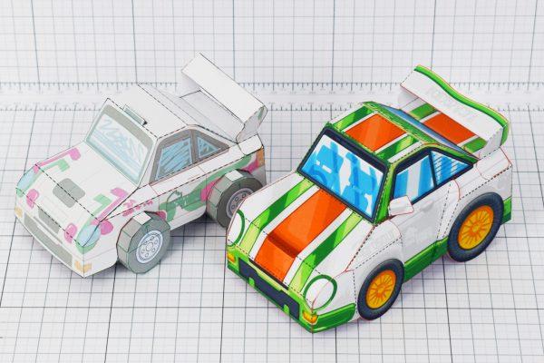 PTI - VHR Cilantro Paper Toy Car Racer Game - Prototype V Finsih