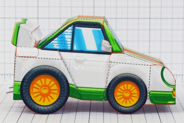 PTI - VHR Cilantro Paper Toy Car Racer Game - Side Low