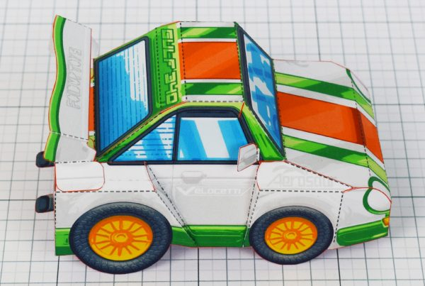PTI - VHR Cilantro Paper Toy Car Racer Game - Side Top WRONG NAME