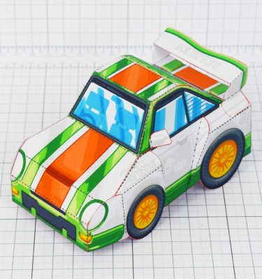 PTI - VHR Cilantro Paper Toy Car Racer Game - Square