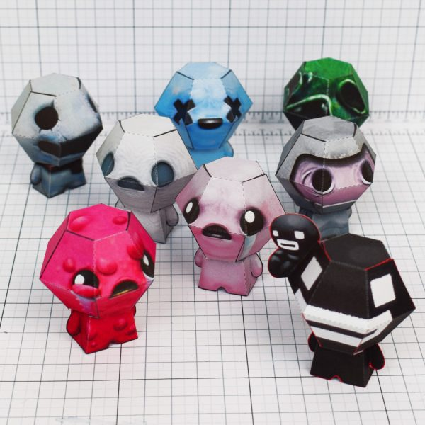 PTI - Binding of Issac fold up toys - paper toys - Little PEEPS