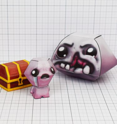 PTI - Binding of Issac fold up toys - paper toys - Monstro