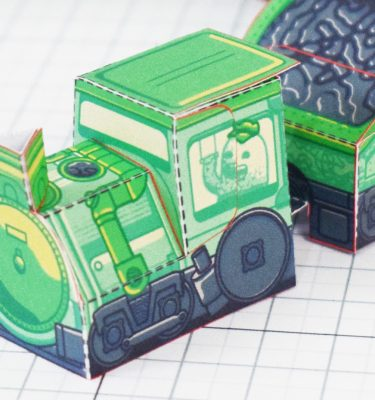 PTI - Ghost Train Fold Up Toys Image - Front
