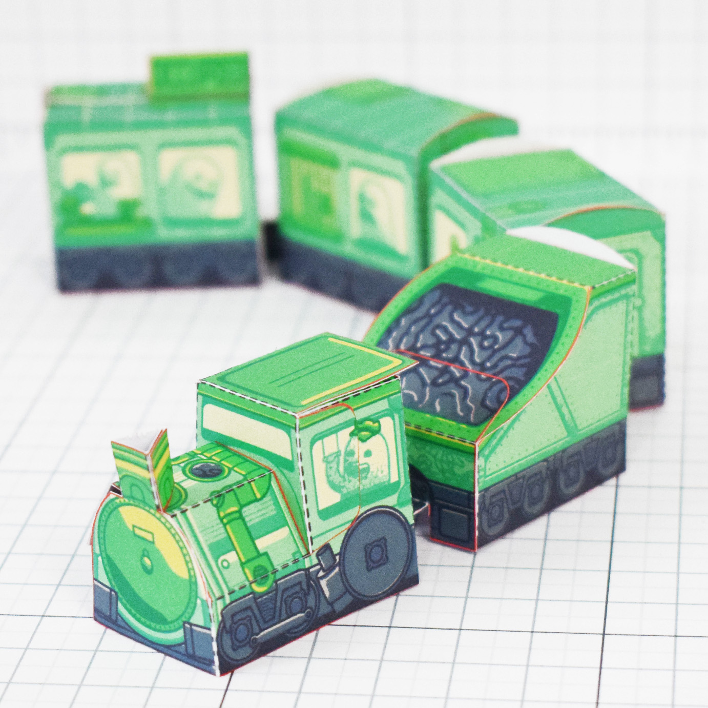 PTI - Ghost Train Fold Up Toys Image - Square