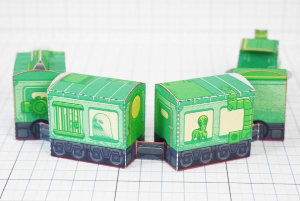 PTI - Ghost Train Fold Up Toys Image - Turn