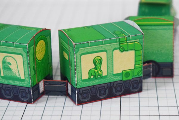 PTI - Ghost Train Fold Up Toys Image - Zoom