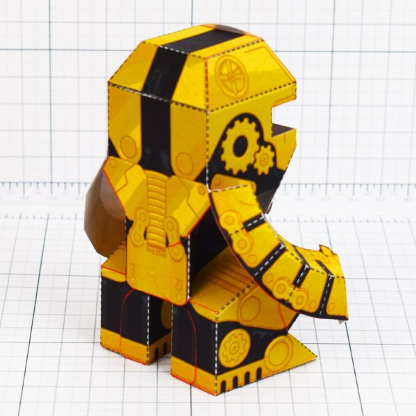 PTI - Clunk Fold Up Paper Toy Robot image - Back