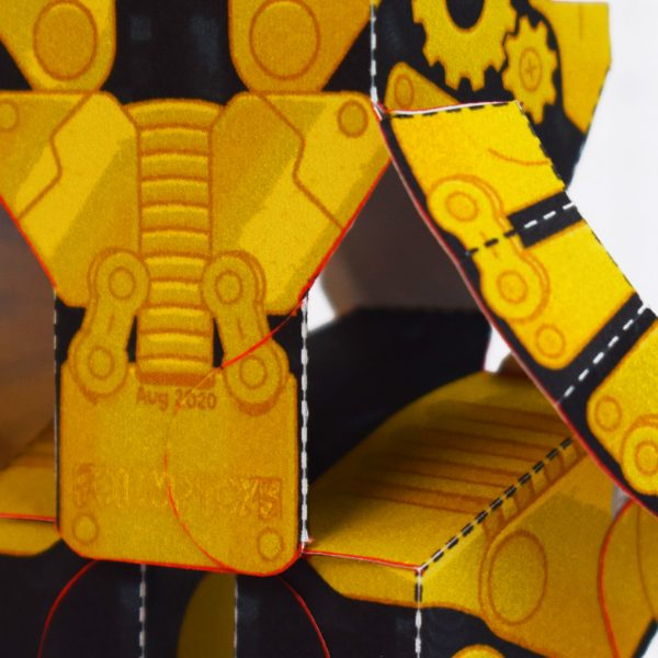 PTI - Clunk Fold Up Paper Toy Robot image - Body Inside 2