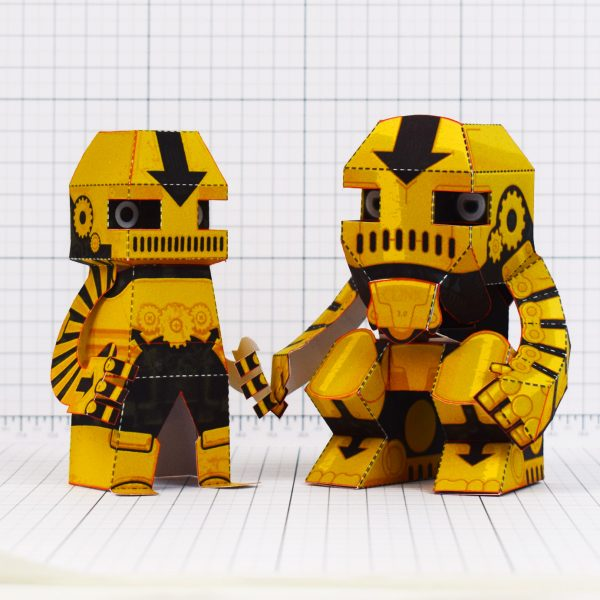 PTI - Clunk Fold Up Paper Toy Robot image - Comparison