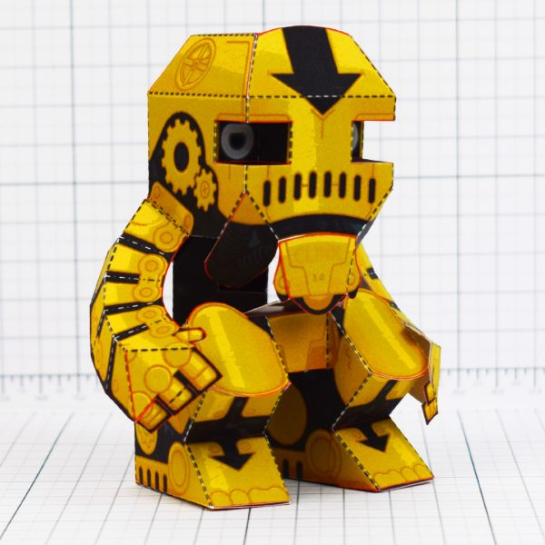 PTI - Clunk Fold Up Paper Toy Robot image - Eye Level