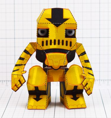 PTI - Clunk Fold Up Paper Toy Robot image - Front