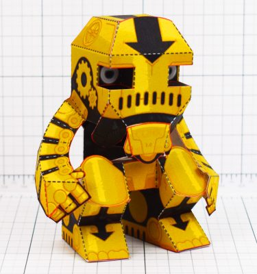 PTI - Clunk Fold Up Paper Toy Robot image - Main