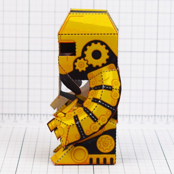 PTI - Clunk Fold Up Paper Toy Robot image - Side