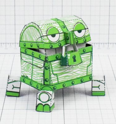 PTI - Malicious Mimic Dungeon Paper Toy Craft Image - Square