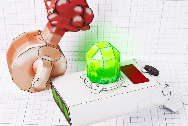 PTI - Rick and Morty Portal Gun and Plumbus paper toy image - main