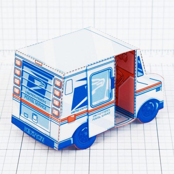 PTI - USPS Van paper toy - Back 2