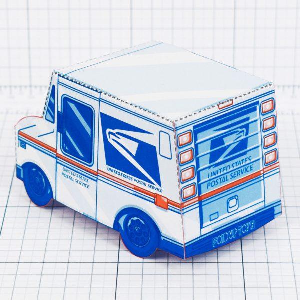 PTI - USPS Van paper toy - Back