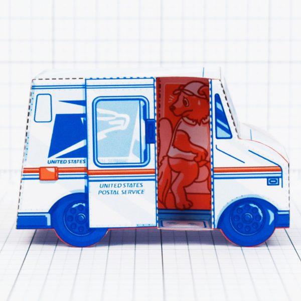 PTI - USPS Van paper toy - Interior