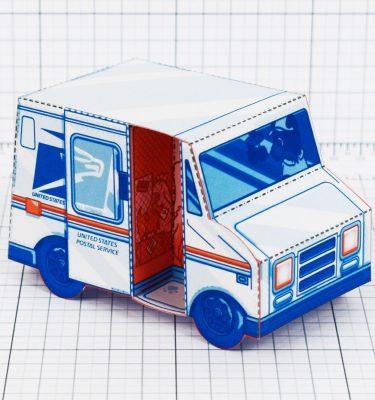 PTI - USPS Van paper toy - Main