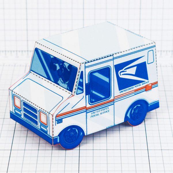PTI - USPS Van paper toy - Side