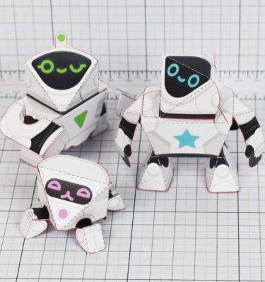 PTI - circuit siblings paper robots - Main