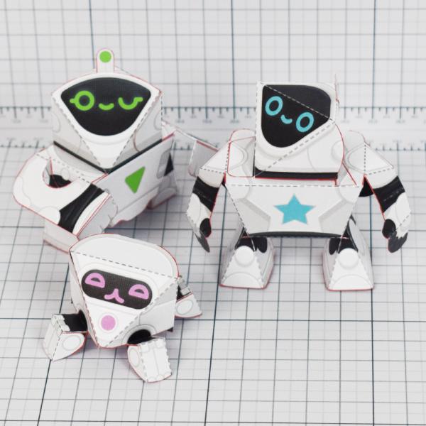 PTI - circuit siblings paper robots - Main