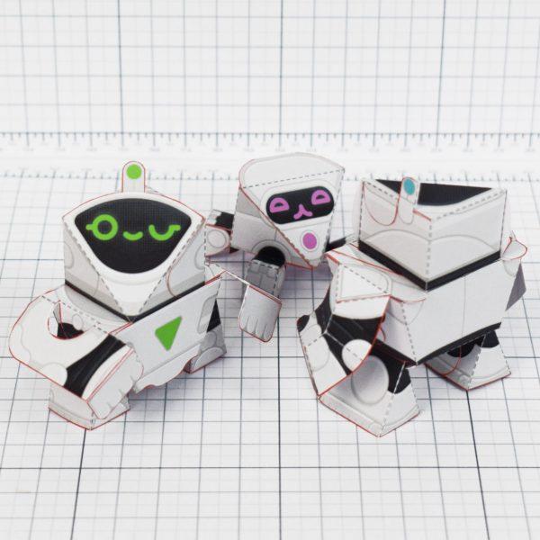 PTI - circuit siblings paper robots - backs