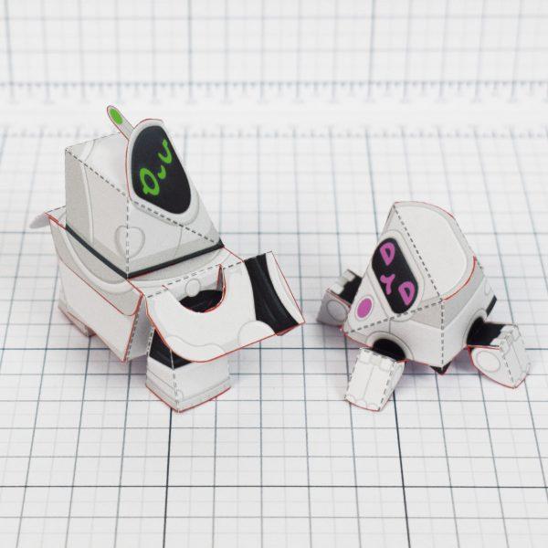 PTI - circuit siblings paper robots - duo