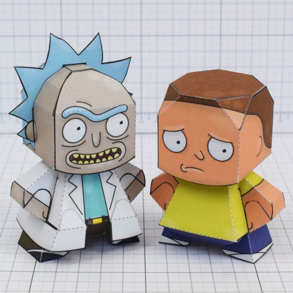 pti - Rick and Morty Paper toy - Group Shot Main