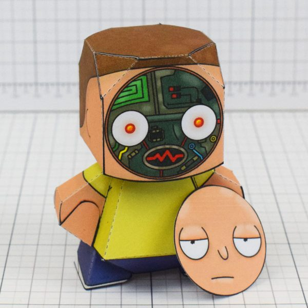pti - Rick and Morty Paper toy - Morty 4