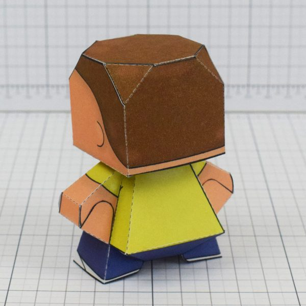 pti - Rick and Morty Paper toy - Morty 5