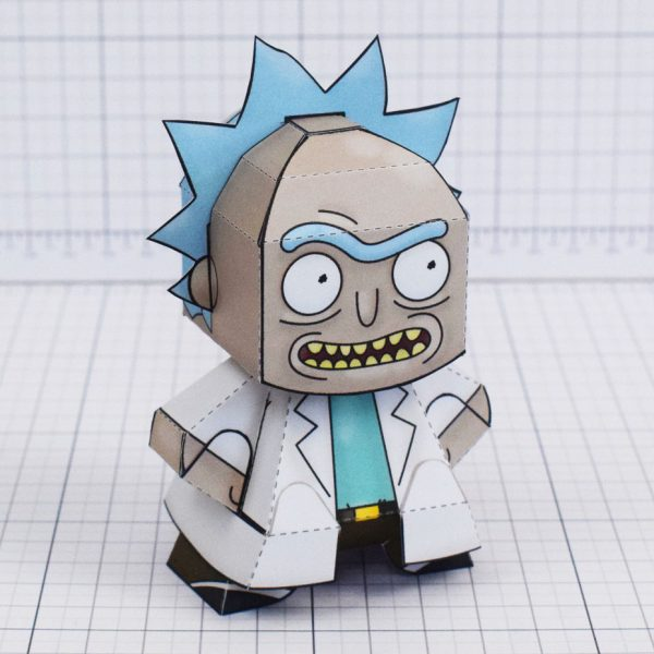 pti - Rick and Morty Paper toy - Rick 1