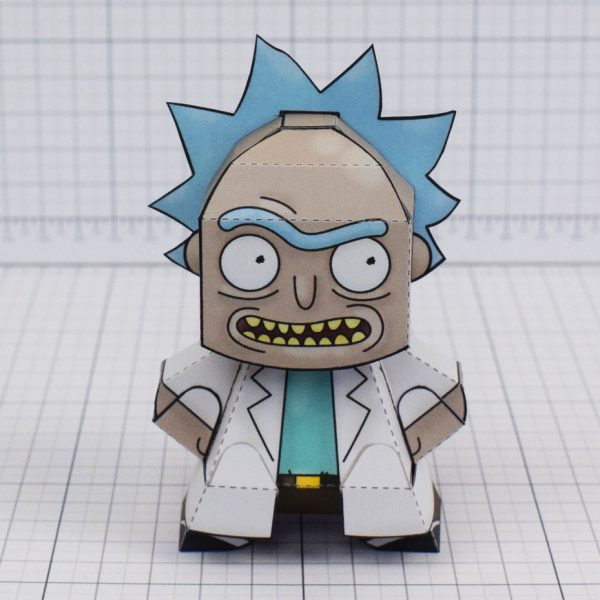 pti - Rick and Morty Paper toy - Rick 2