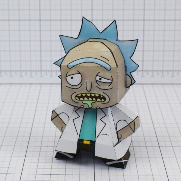 pti - Rick and Morty Paper toy - Rick 4