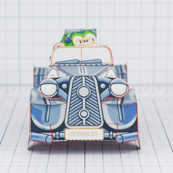 PTI - Monkey Motor paper toy car image - Front