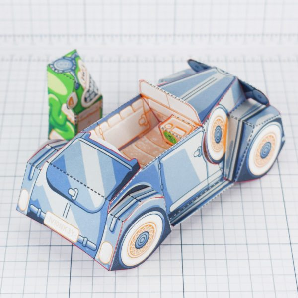 PTI - Monkey Motor paper toy car image - Inside