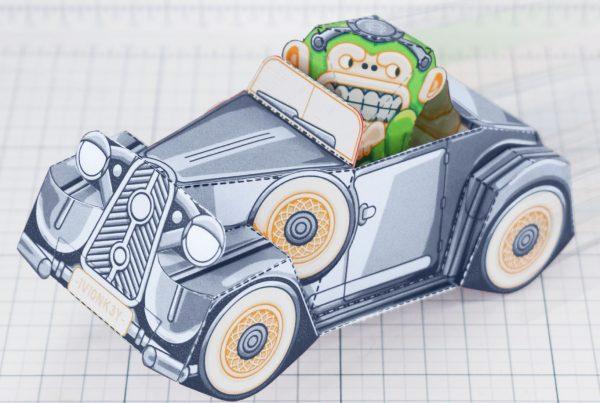 PTI - Monkey Motor paper toy car image - Main