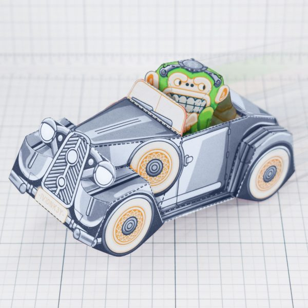 PTI - Monkey Motor paper toy car image - Main