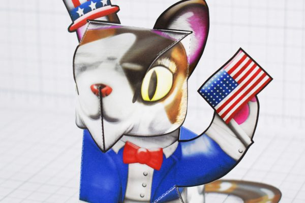PTI - Creationist Cat Fold Up Toy 2020 - America