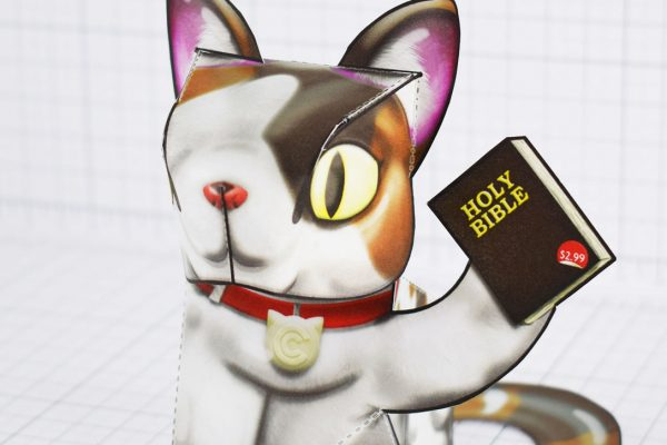 PTI - Creationist Cat Fold Up Toy 2020 - Bible