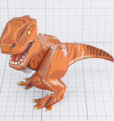 PTI - Terrifying Tyrannosaurus Dinosaur Fold Up Toy - Main