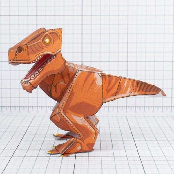 PTI - Terrifying Tyrannosaurus Dinosaur Fold Up Toy - Side
