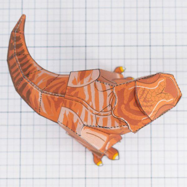 PTI - Terrifying Tyrannosaurus Dinosaur Fold Up Toy - Top
