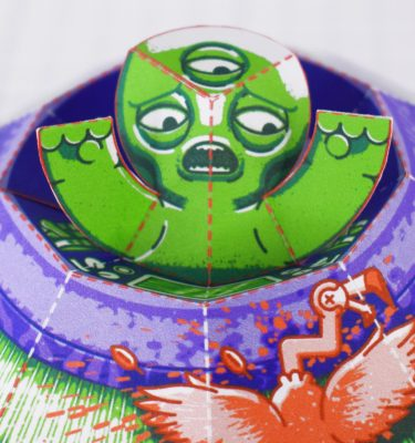 PTI - UFO Fold Up Toy - Close Up