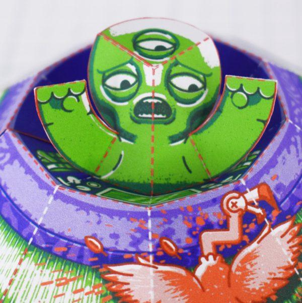 PTI - UFO Fold Up Toy - Close Up