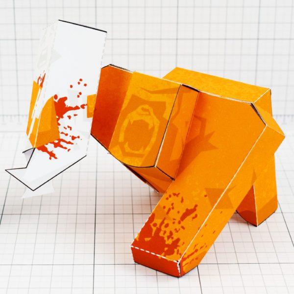 PTI - Ape Out Game Fan Art Paper Toy Image - SQUARE