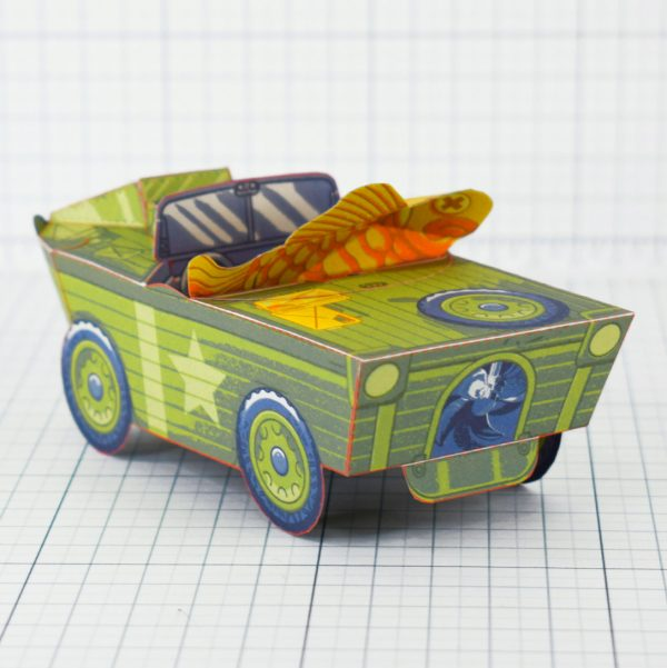 PTI - Aqua Marine Seep Jeep Fold Up Toy Image - Back